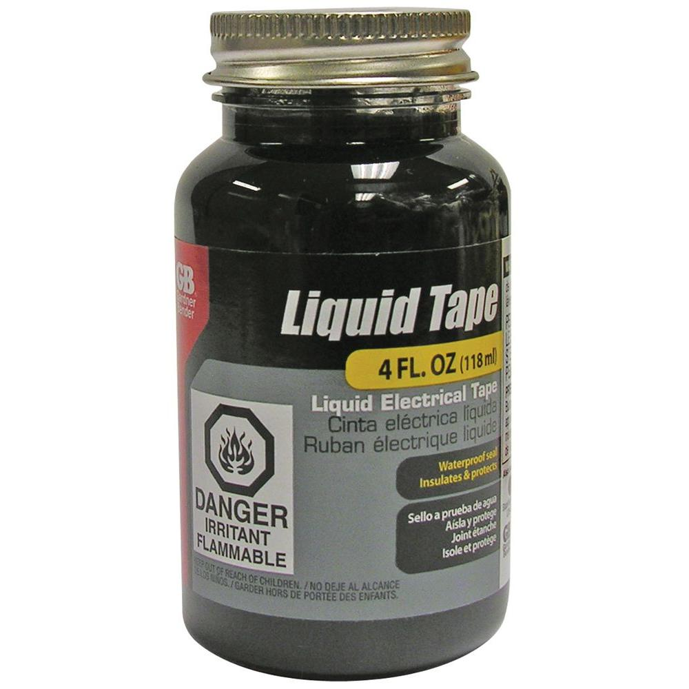 Gardner Bender Black Liquid Electrical Tape 4 oz.