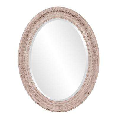 26 in. x 34 in. Stone Grey Framed Mirror