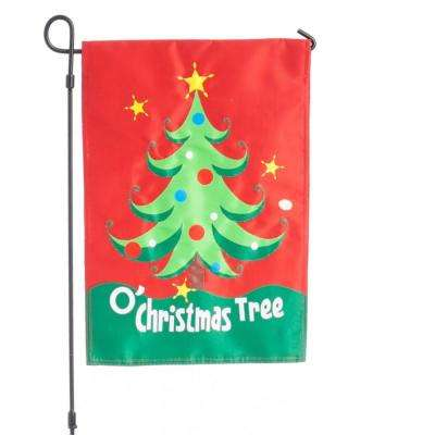 18 in. x 12.5 in. O' Christmas Tree Evernote Flag