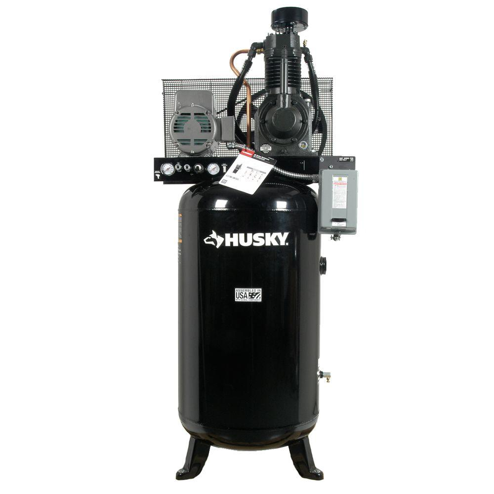 Husky 80 Gal. 2-Stage Cast Iron Electric Air Compressor