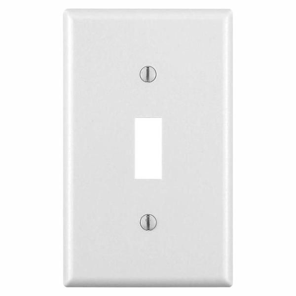 1-Gang White Toggle Wall Plate (10-Pack)
