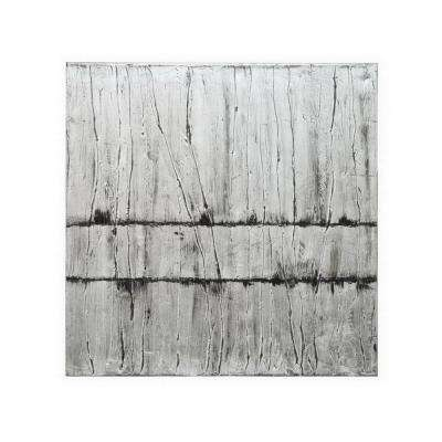 30 in. x 30 in. Painted Stretched Un-Framed Canvas Painting - Oil On Canvas in Gray Abstract Wall Art