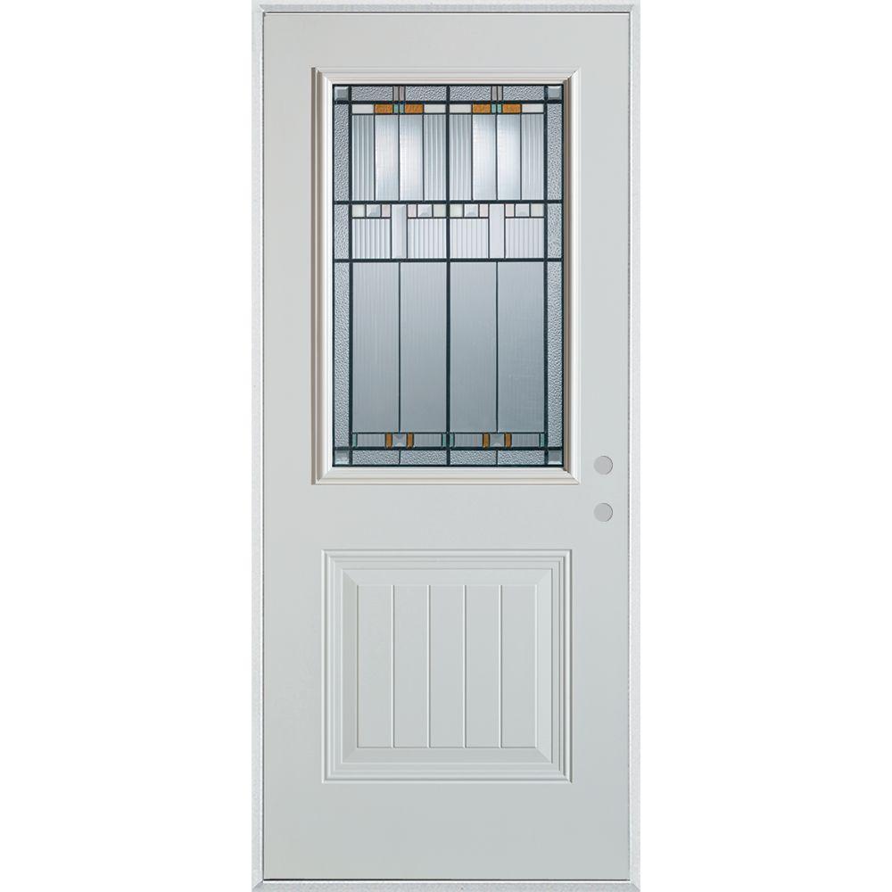 Home Depot Doors Exterior Steel: Stanley Doors 33.375 In. X 82.375 In. Architectural 1/2