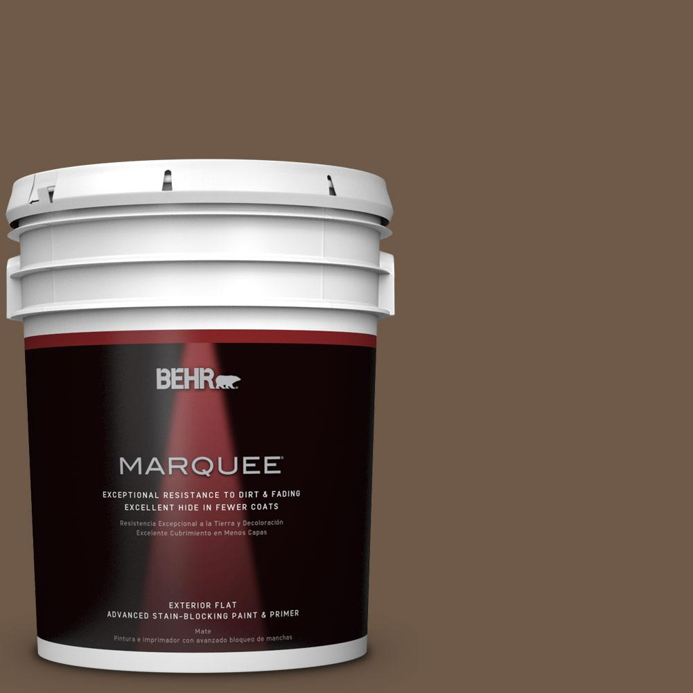 BEHR MARQUEE 5-gal. #N230-7 Rustic Tobacco Flat Exterior Paint