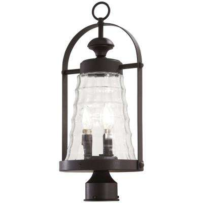 Sycamore Trail 3-Light Dorian Bronze Outdoor Post Light Wall Lantern Sconce