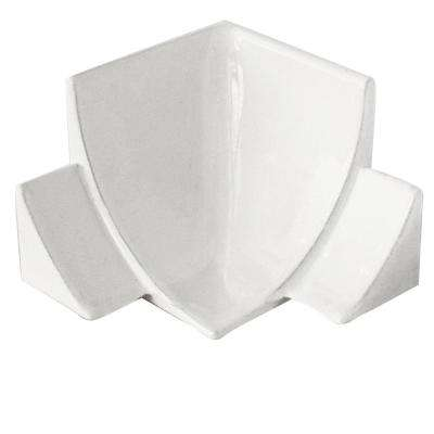 Internal Angle NS4 White 1-1/2 in. x 1-1/2 in. Complement Aluminum Tile Edging Trim