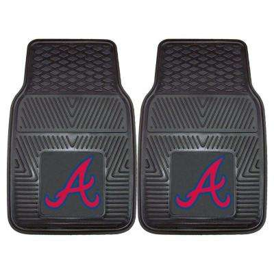 Atlanta Braves 18 in. x 27 in. 2-Piece Heavy Duty Vinyl Car Mat