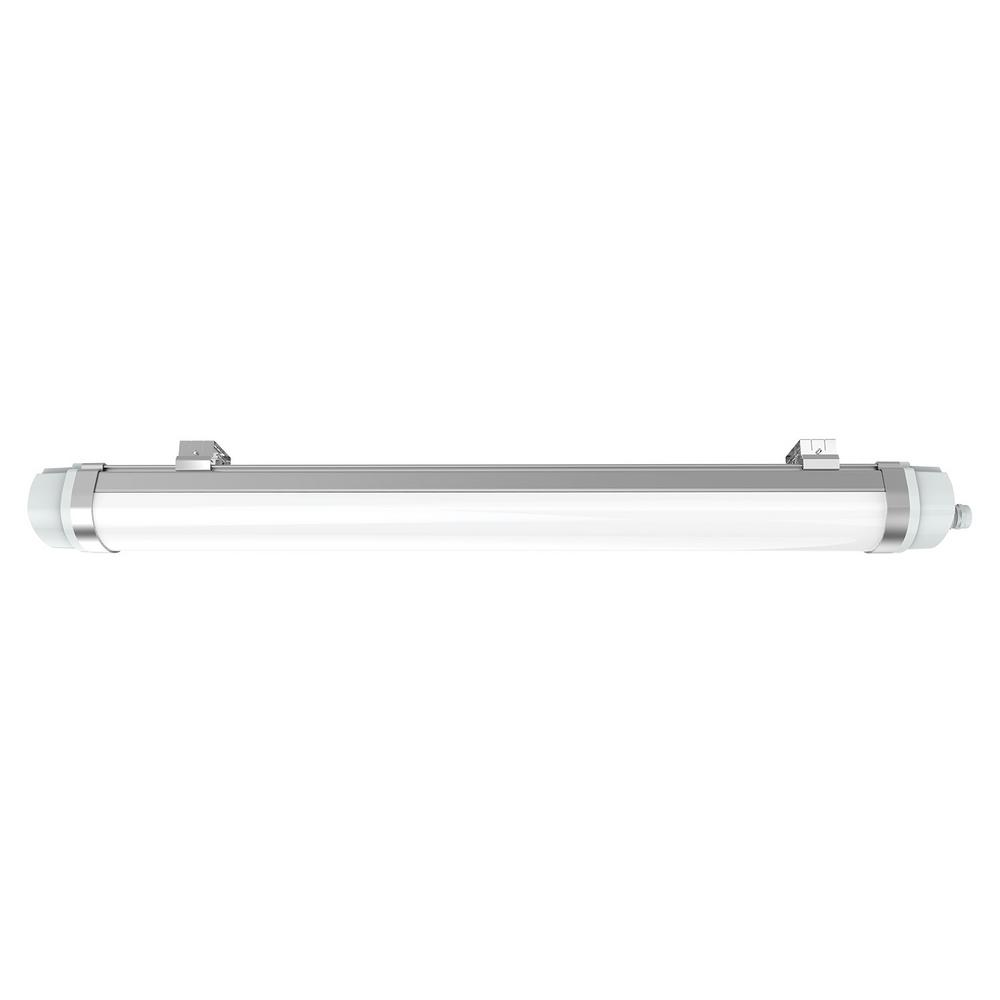 Halco Lighting Technologies ProLED 96 Watt Equivalent Gray Integrated LED  Strip Vapor Tight Light Fixture
