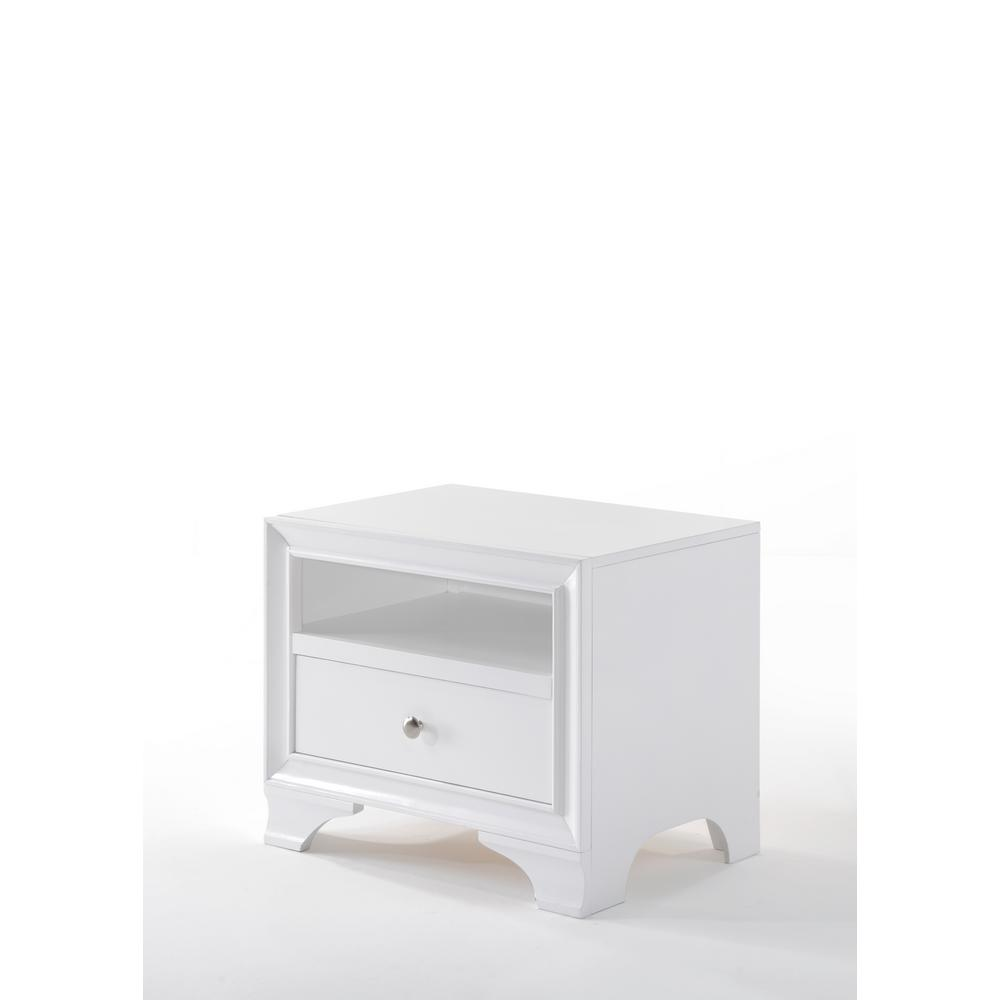 Edgy furniture Office Blaise White Nightstand Cb2 Acme Furniture Blaise White Nightstand97496 The Home Depot