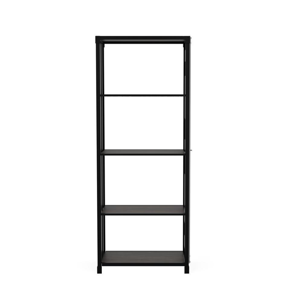 Klimson 64 in.H Sand Black 4-Shelf Bookcase