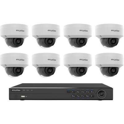 8-Channel Full HD 4MP IP Indoor/Outdoor Surveillance 4TB 4K Output NVR System (8) Dome Cameras with Remote Viewing