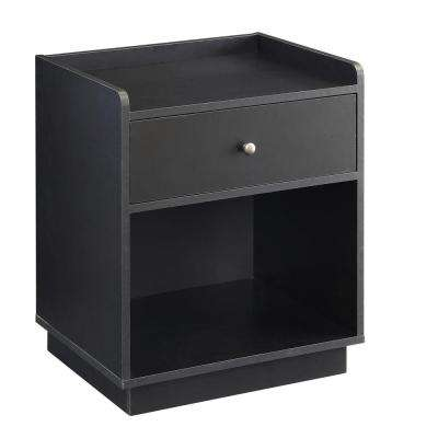 Black Storage End Table