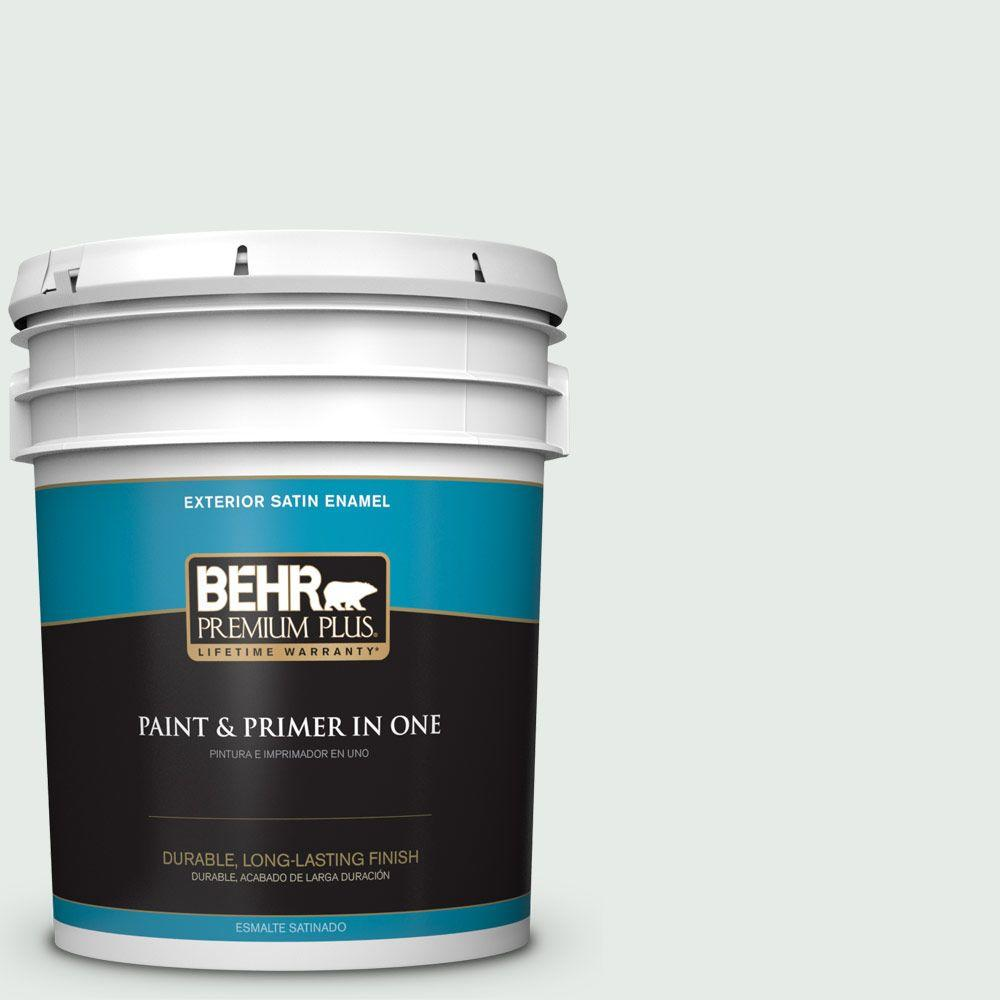 5-gal. #BL-W8 Frothy Surf Satin Enamel Exterior Paint