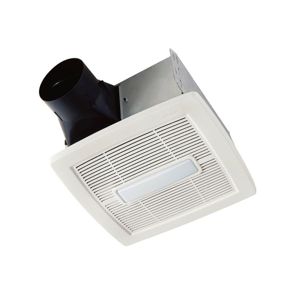 NuTone InVent Series 80 CFM Ceiling Bathroom Exhaust Fan With Light, ENERGY STAR-AEN80L