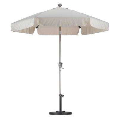 7-1/2 ft. Fiberglass Push Tilt Patio Umbrella in Antique Beige SpunPoly