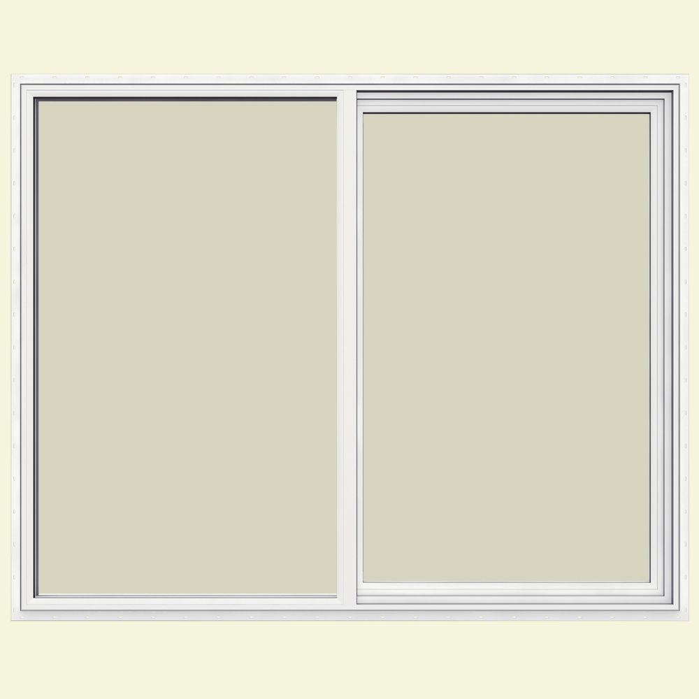 JELD-WEN 59.5 in. x 47.5 in. V-1500 Series Left-Hand Sliding Vinyl Window - White