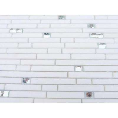 Fable White Rabbit 11-1/4 in. x 12 in. x 10 mm Polished Marble Mosaic Tile