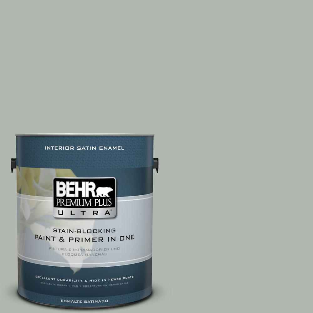 BEHR Premium Plus Ultra 1-Gal. #PPU12-14 Verdigris Satin Enamel Interior Paint