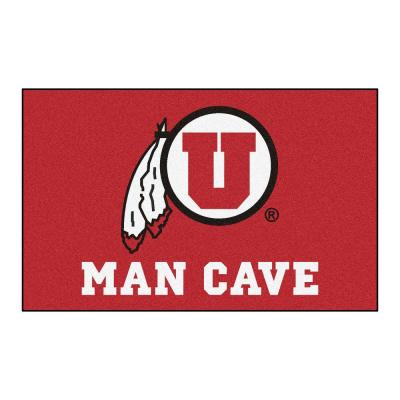 NCAA University of Utah Red Man Cave 5 ft. x 8 ft. Area Rug