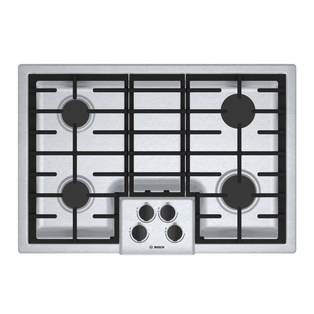 500 Series 30 in. Gas Cooktop in Stainless Steel with 4