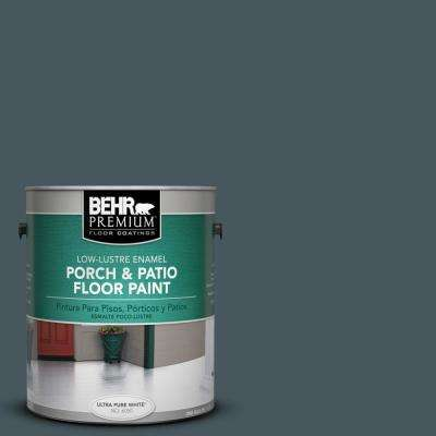1 gal. #S470-7 Undersea Low-Lustre Porch and Patio Floor Paint