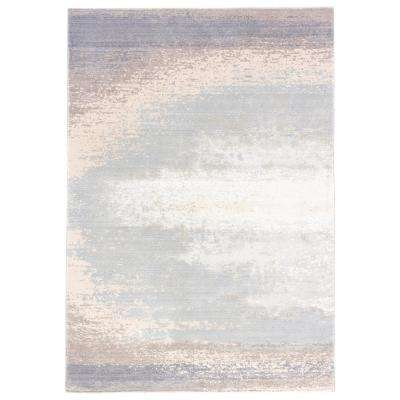 Pussywillow Gray 2 ft. x 3 ft. Abstract Area Rug