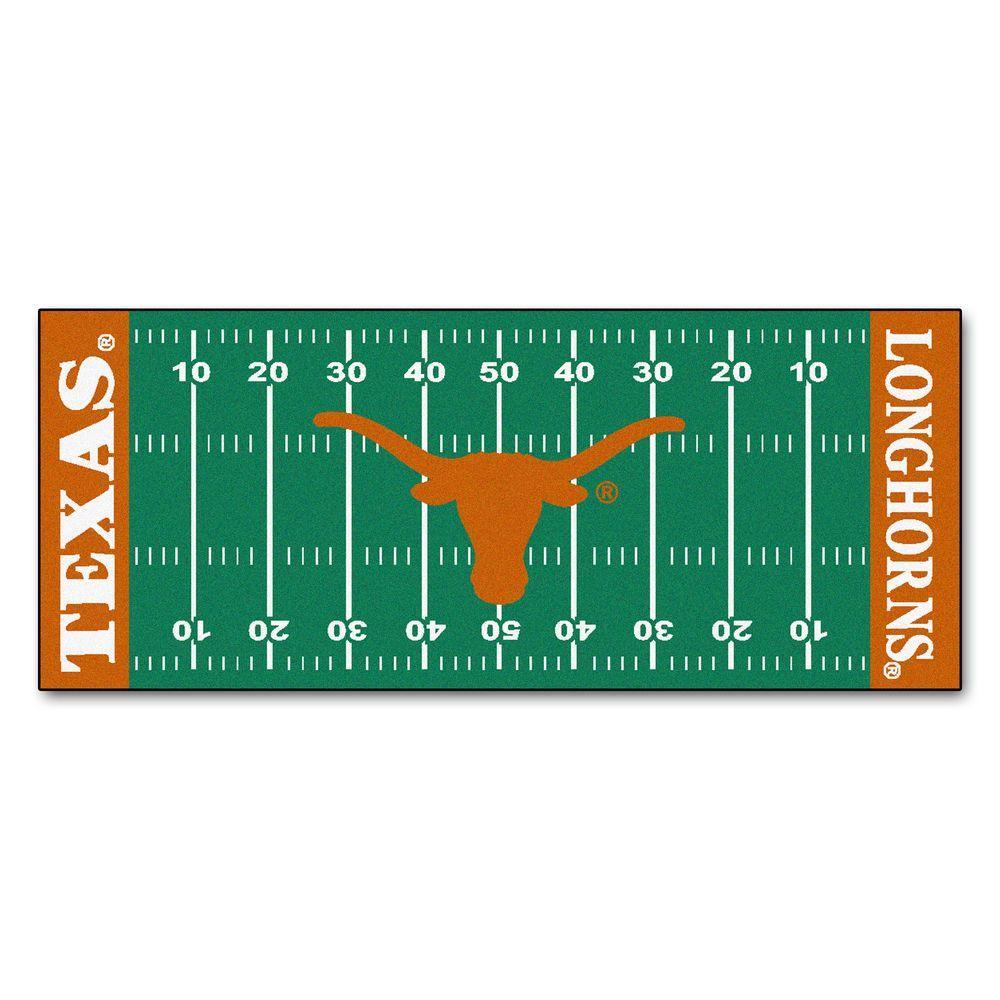 University of Texas 3 ft. x 6 ft. Football Field Rug Runner Rug