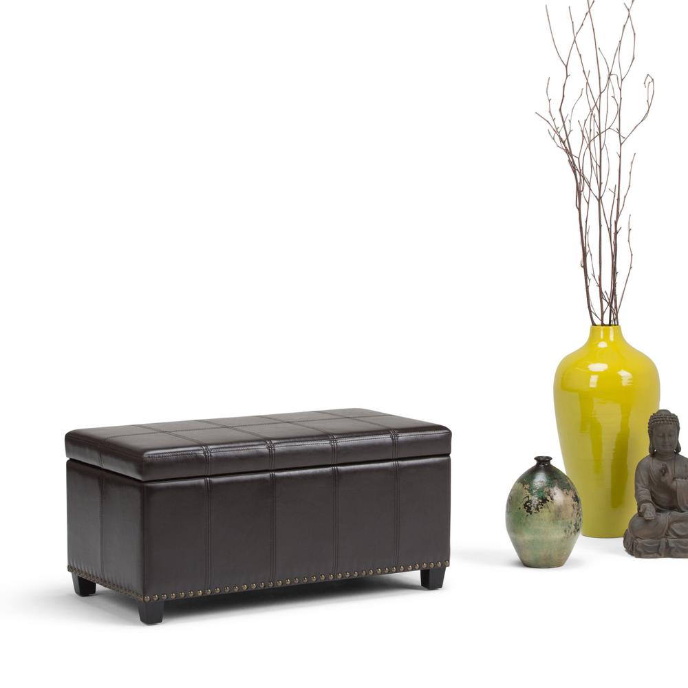 Simply Home Amelia Tanners Brown PU Faux Leather Storage ...