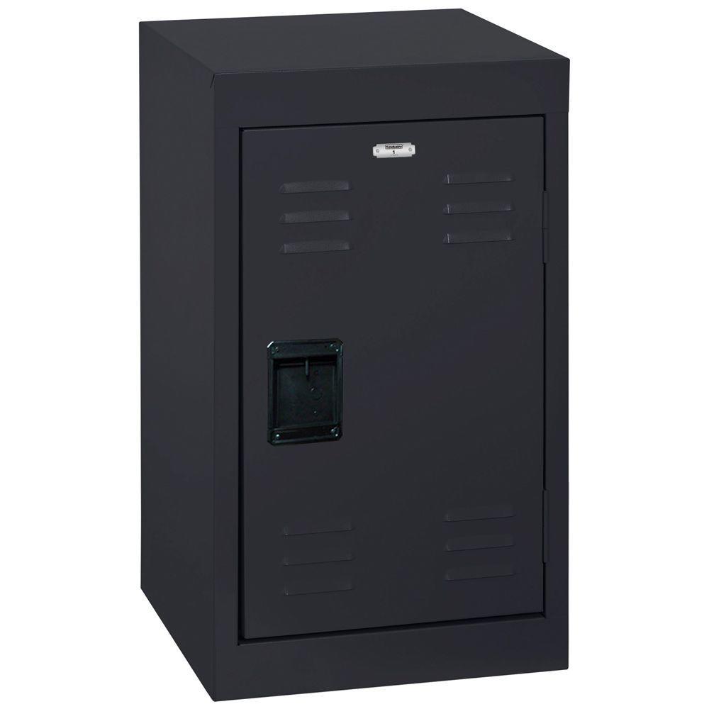 24 in. H x 15 in. W x 15 in. D Single-Tier Welded Steel Storage Locker in Black