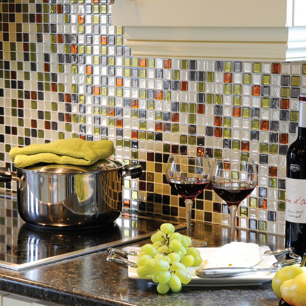 Smart Tiles Idaho 9.85 in. W x 9.85 in. H Decorative Mosaic Wall Tile Backsplash (6-Pack)