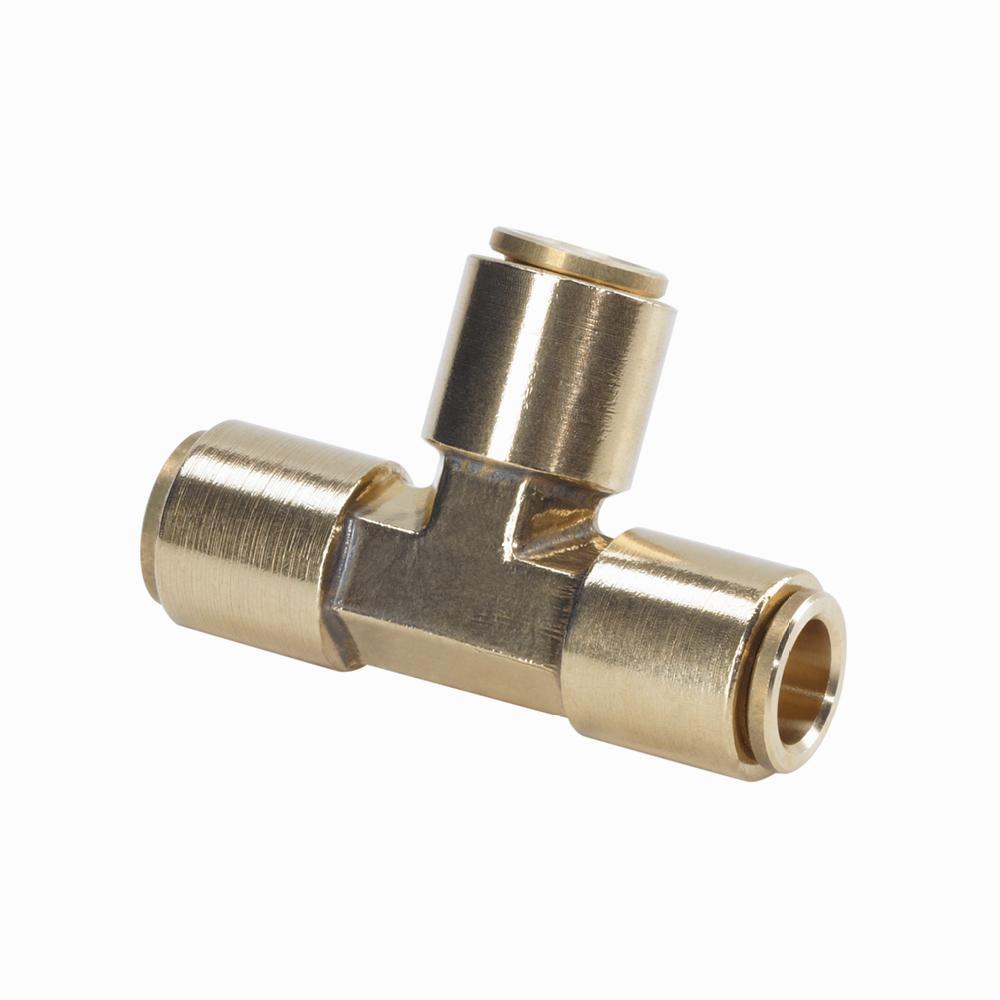 3/8 in. Brass Slip Lock T Connector
