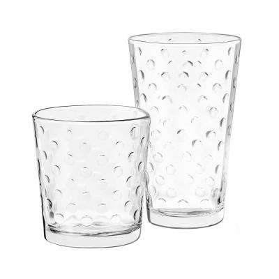 Awa 16-Piece Clear Glass Drinkware Set