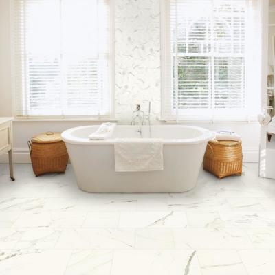 Developed by Nature Calacatta 3 in. x 12 in. Glazed Porcelain Floor Bullnose Tile (0.26 sq. ft. / piece)