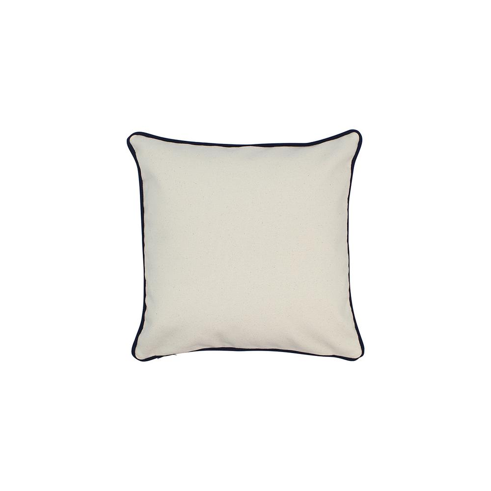 12 in. x 12 in. Natural Standard Pillow with Green Eco