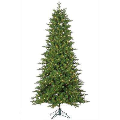 7.5 ft. Pre-Lit Dover Artificial Christmas Pine Tree with Power Pole