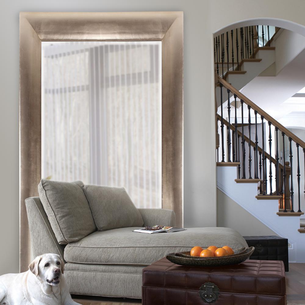 Barron Silver Leaf Mirror-43103 - The Home Depot