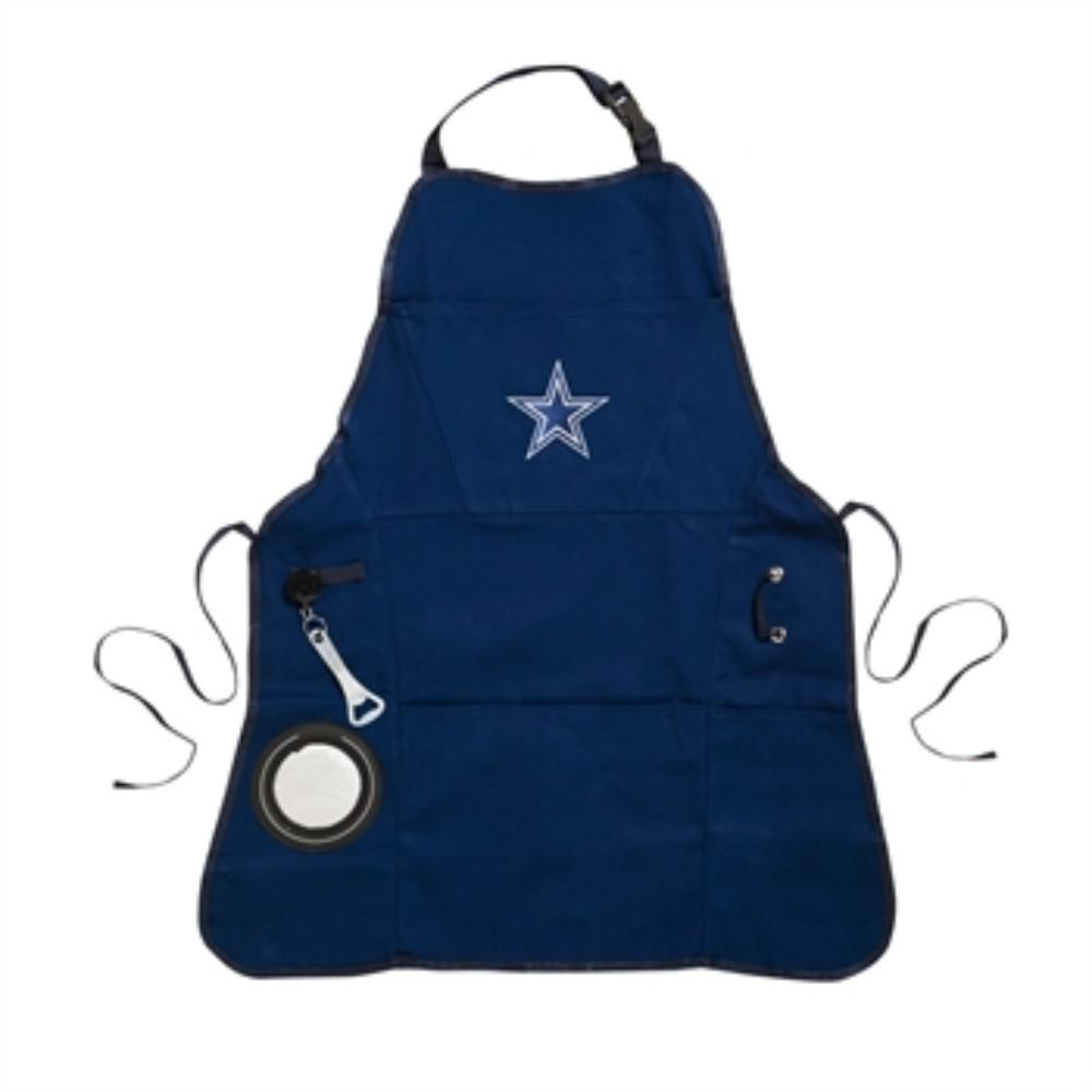 8c0ab014800 Dallas Cowboys NFL 24 in. x 31 in. Cotton Canvas 5-Pocket Grilling Apron  with Bottle Holder