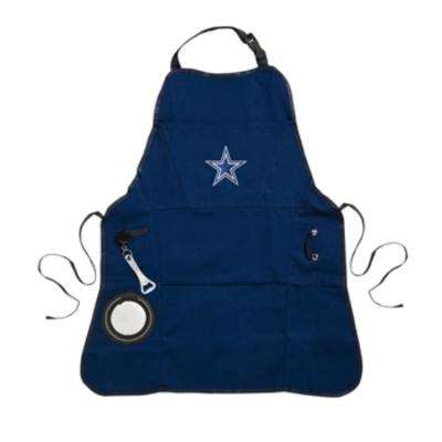 Dallas Cowboys NFL 24 in. x 31 in. Cotton Canvas 5-Pocket Grilling Apron with Bottle Holder