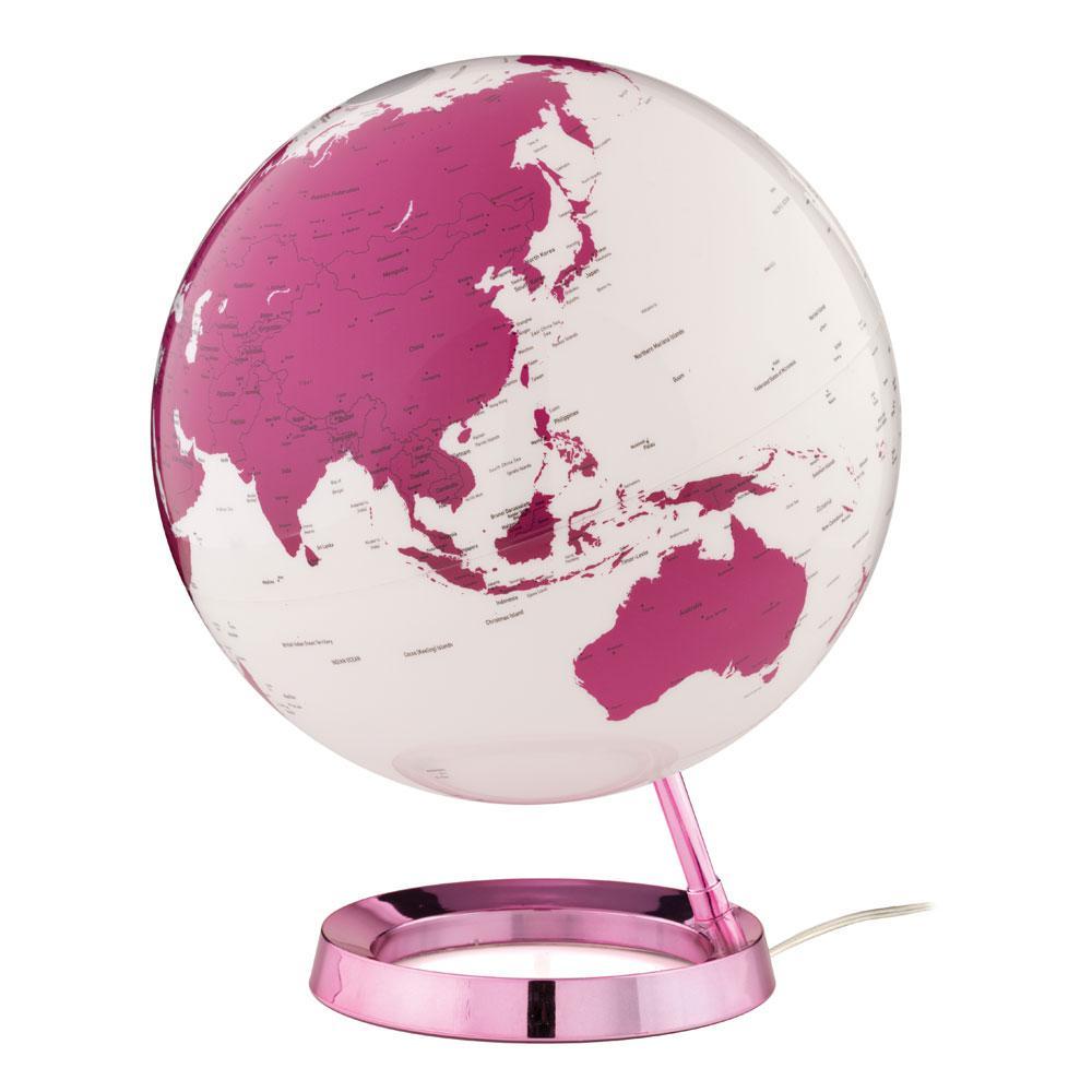 Light and Color 12 in. Hot Pink Designer Series Desktop Globe