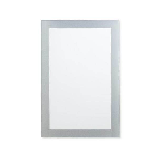 24 in. W x 36 in. H Frameless Frosted Border Rectangular Bathroom Vanity Mirror