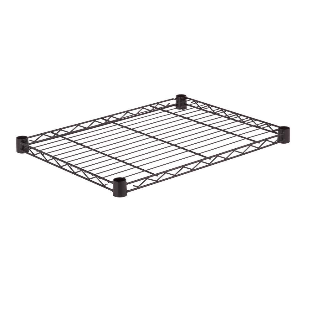 24 in .W x 18 in. D 350 lbs. Steel Shelf in Black