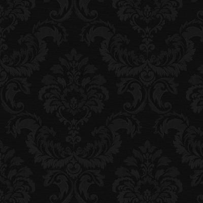 Damask Black Wallpaper Home Decor The Home Depot