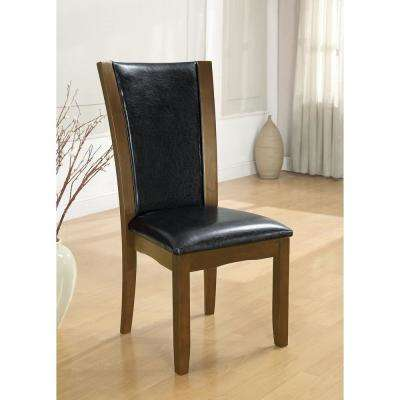 Manhattan I Dark Cherry and Brown Contemporary Style Side Chair