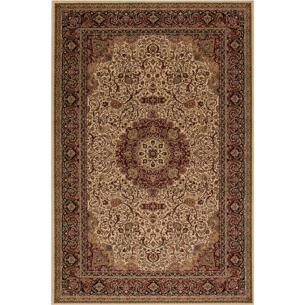 Concord Global Trading Persian Classics Isfahan Ivory 3 ft. 11 in. x 5 ft. 7 in. Area Rug