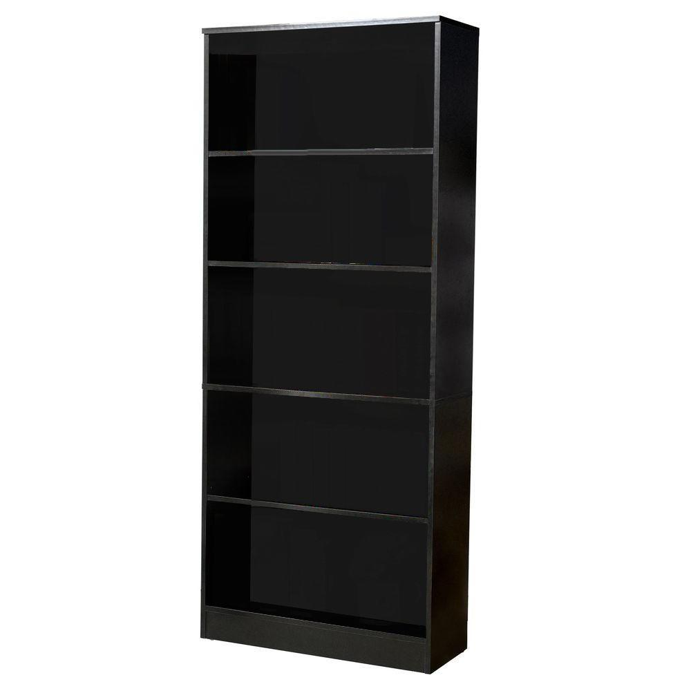 Hampton Bay Black Wood Open Bookcase