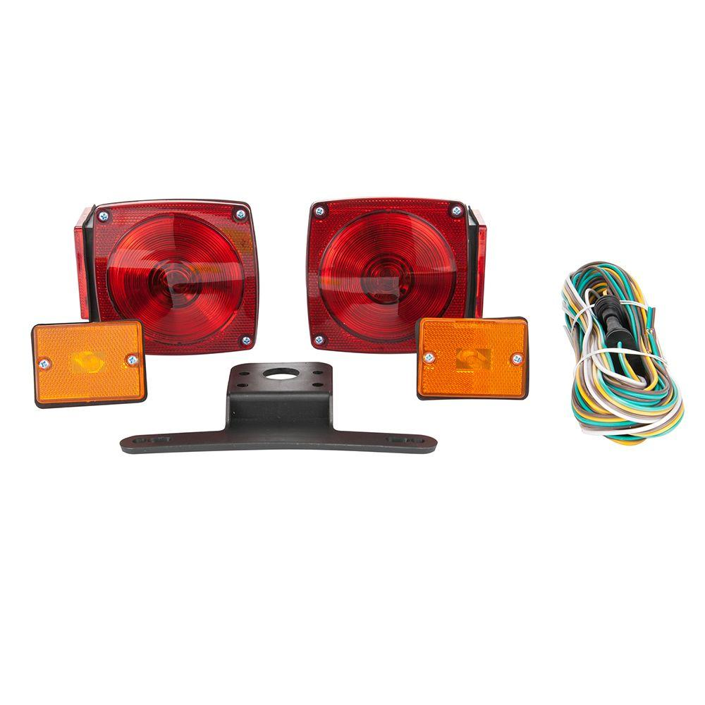 Towsmart 80 In Under Standard Trailer Light Kit With Side Marker Wiring Lights Reference Info