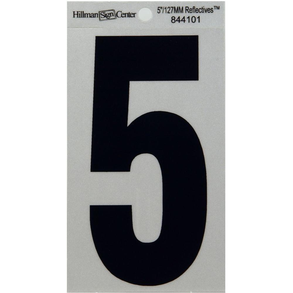 5 in. Mylar Reflective Number 5