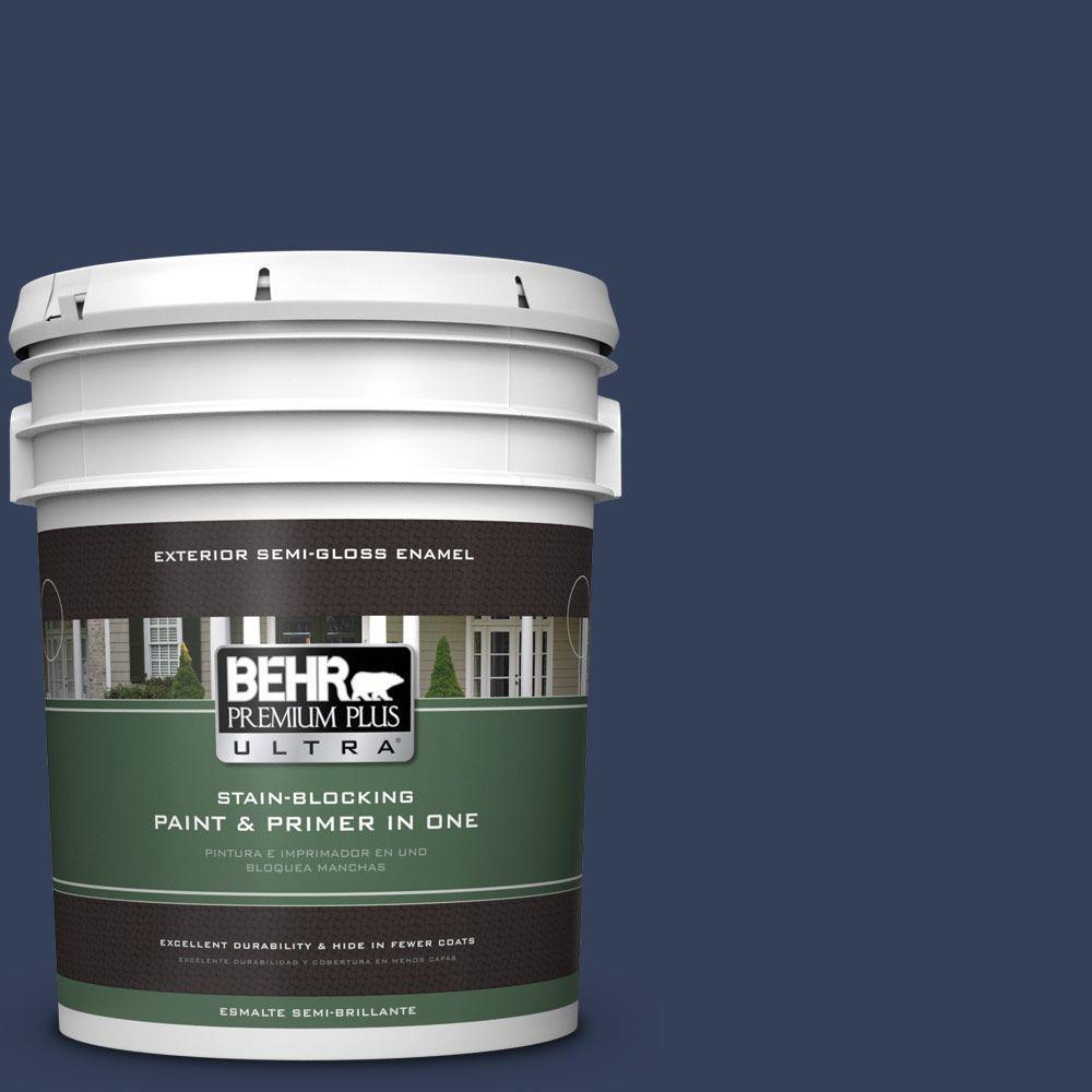 BEHR Premium Plus Ultra 5-gal. #600F-7 Soulful Music Semi-Gloss Enamel Exterior Paint