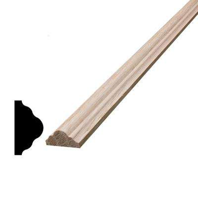 3/8 in. x 3/4 in. x 96 in. Oak Panel Cap Moulding