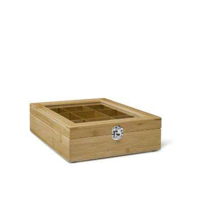 9-Compartment Tea Box with Window